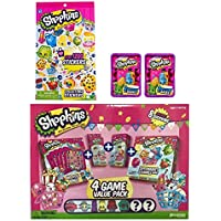 Shopkins Activity Bundle: 4 Game Value Pack with Shopkins Figures, Sticker Book, & 2 Season 2 Blind Baskets