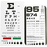 EMI Rosenbaum AND Snellen Pocket Eye Charts - 2 Pack