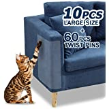 """10 Pcs Furniture Protectors from Cats, Clear Self-Adhesive Cat Scratch Deterrent, Couch Protector 4 Pack X-Large (18""""L 12""""W)"""