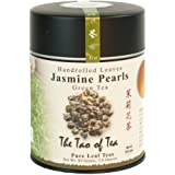 The Tao of Tea, Handrolled Jasmine Pearls Green Tea, Loose Leaf, 4-Ounce Tins (Pack of 2)