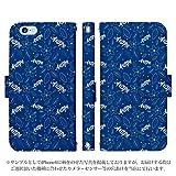 iPhone7 手帳型 ケース [デザイン:16.フラワーパターン(bl)/マグネットハンドあり] Jリーグ オフィシャル ライセンス商品 アビスパ福岡 アイフォン スマホ カバー