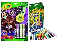 Crayola モンスターハイカラーリング&アクティビティパッド Cra-ActvtyPd-Mnstr-PIPSQK-2KIT