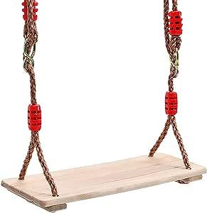 COMINGFIT® 150kgまで荷重木製 どこでも ブランコ 手作り