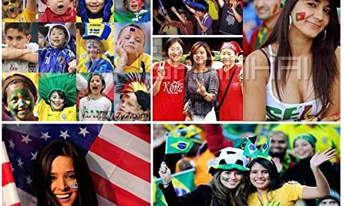 Viva !! 選べる9ヶ国 国旗シール5枚 リストバンド スカーフ 3点セット FIFA 2014 ブラジル ワールドカップ 観戦グッズ で盛り上がろう!! (スペイン)