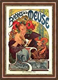 ( v12 – 01 – 02 ) Alphonse _ Mucha _ビール_ of _ the _ Meuse _フレーム_キャンバス_ Giclee _プリント_ w22 _ X _ h32.5 +[Large] #06-Brown/Gold V12-02F-MD393-03