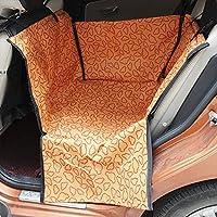 車用ペットシート シートカバー ペット用ドライブシート カーシート 後部座席用 高品質 防水 滑り止め 折り畳み式 ジッパー付 汚れに強い 清潔簡単 中 小型犬用 ペットおでかけ用品 (オレンジ)