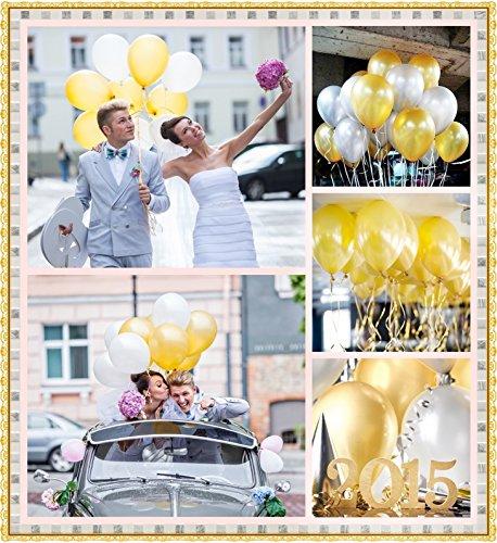 ゴールド JINSELF あんしん極厚風船 100個セット 誕生日 結婚式 パステル パステルカラー ペーパーフラワー ポンポン バルーン フォトプロップス プロップス ガーランド 飾り付け 飾り 装飾 空気入れ