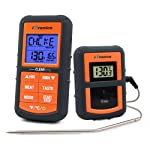 iTronics Wireless Remote Digital Cooking Food Meat Thermometer for Grilling Oven Kitchen Smoker BBQ Grill Thermometer...