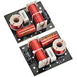 Douk Audio 2Pcs 400W Speaker Frequency Divider 2 Way 2 Unit Hi-Fi Soundshelf Crossover Filters Woofer and Tweeter