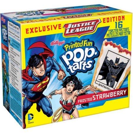 Kellogg's Pop-Tarts DC Comics Printed Fun Toaster Pastries ケロッグのポップタート DCコミックスプリントトースターペストリー16枚、合計820g [並行輸入品]