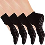 Yoga Socks Non Slip Skid Pilates Ballet Barre with Grips for Women Girls by Cooque