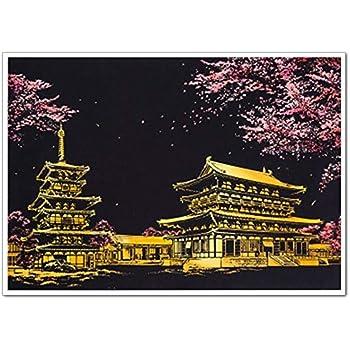 スクラッチアート MeRaPhy スクラッチ ペン セット 塗り絵 ペーパーアート 世界の夜景 日本桜 全10種類