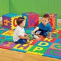 36ピース/セット新しいaz手紙アルファベット数字柔らかい泡プレイマットカーペット敷物子供ベビーキッズ教育おもちゃ