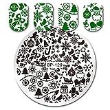 Amazon.co.jp1枚 5.5cm クリスマスシリーズ ネイルアートスタンピングプレート ラウンドマニキュアネイルアートプレート BP-120 [並行輸入品]