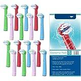 WuYan ブラウン オーラルB 対応 電動歯ブラシ 子供用 EB10 すみずみクリーンキッズ やわらかめ 替ブラシ 16パック 子供用