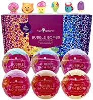 Fun Food Character Bubble Bath Bombs for Kids with Surprise Toys Inside for Boys and Girls by Two Sisters. 6 L