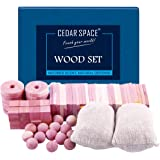 Cedar Hang Ups Cedar Packs for Closet Storage, 100% Nature Aromatic Red Ceder Blocks, Nature, 72 Pcs