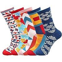 Fantastic Zone Men's 5 Packs Cotton Dress Socks