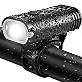 BYBLIGHT 自転車ヘッドライト センサー付き USB充電式 超高輝度LED 2色7種点灯モード テールライト付け バッテリ内層1800mah 防水 尾灯 警告灯 夜間走行安全 (センサー付けヘッドライト)