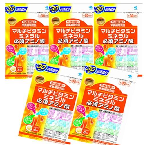 小林製薬 マルチビタミンミネラル必須アミノ酸 120粒(約30日分) 【お買得5個セット】