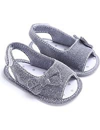 simayixx幼児用靴、新生児幼児用ガールズソフトソール蝶結びサンダル靴ベビーベッド布Prewalkers