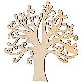 VORCOOL Wooden Tree Embellishments,10 Pcs Blank Wooden Tree Embellishments for DIY Crafts Decoration