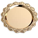 Gilded Pattern Dinner Plate Serving Tray Dessert Cake Steak Tray Barbecue Food Container,Towel Tray Storage Tray Tea Tray Fru