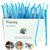 Pienoy 50-Pieces Double-Headed Dog/cat Toothbrush - Convenient Toothbrush to Clean pet Teeth, pet Toothbrush (Blue)