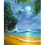 Katosca DIY Paint by Numbers for Adults Kids Seascape Paint by Numbers DIY Painting Acrylic Paint by Numbers Painting Kit Hom