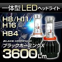 stakeholder 高出力LEDヘッドライト H8/H11/H16 30W 3000Lm 3000K/6000K/10000K オールインワン キット 『ブラックホーミングX』《1年保証付》ST03278