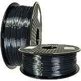 Silk Black 3D Printer PLA Filament 1.75mm 1KG 2.2LBS Spool 3D Printing Silky Shiny Shine Pearl Metal Metaillic Black Gold Sil