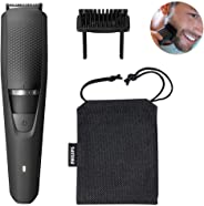 Philips Beardtrimmer Series 3000 Cordless Beard Trimmer with Lift & Trim System, 0.5mm Precision Settings & 60 min Cordless U