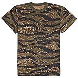 ロスコ カモ Tシャツ (XL, タイガーカモ)