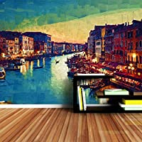 Ansyny ヴェネツィア市絵画壁紙3d壁画ウォールペーパーホームインテリア壁紙用リビングルーム寝室自然ロール-420X280cm
