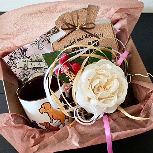 フラワー ギフト cafe,q カフェック、ストロベリーピンク チョコレート & コーヒー & サヴィニャック マ...