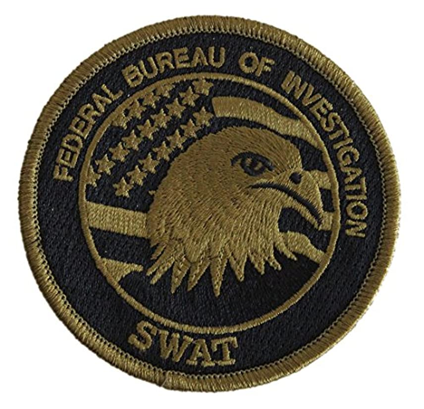 メトリックミトン引き付ける[ ワッペン屋Dongri ] 全面刺繍 ベルクロワッペン FBI SWAT 特殊部隊 A177