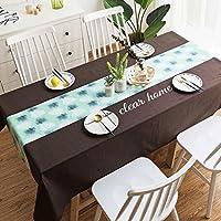 テーブルクロス、長方形のコットンとリネンの通気性の環境保護の長いテーブルのための抵抗力がある黒い格子 (色 : E, サイズ さいず : 100*140cm)