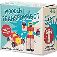 Wooden Transformbot - Transforms from robot to car - Assorted colours and design (selected at random on despatch)