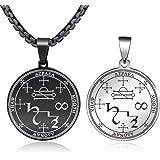 FLYUN Metatron's Cube Pendant for Men Women, Sacred Geometry Seals of Archangel Angel Necklace Stainless Steel Jewelry