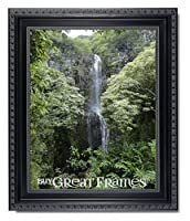 One 8x10 Ornate Heritage Black Photo Frame with Easel Back and Clear Glass by Heritage Black [並行輸入品]