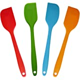 4 Pcs Heat Resistant Silicone Spatulas Set,Small