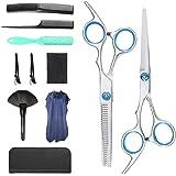 Professional Hair Cutting Scissors Set 11 PCS Hairdressing Haircut Scissors Kit, Thinning Shears, Hair Razor Comb, Hair brush