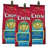(ライオンコーヒー) バニラ マカダミアナッツ 283g×3パック (粉)