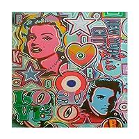 商標Fine Art Pop Mix by抽象グラフィティ、24x 24インチ