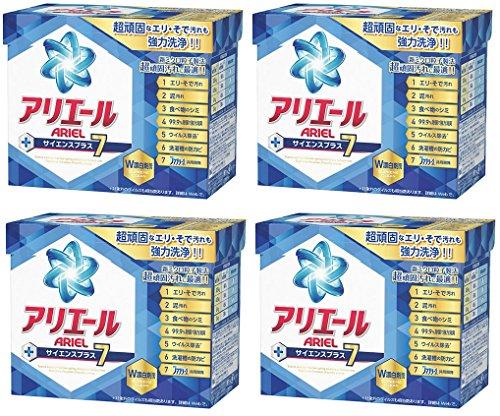 【まとめ買い】アリエール 洗濯洗剤 粉末 サイエンスプラス7 0.9kg×4個