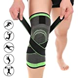 3D Weaving Compression Knee Support Sleeve Brace Breathable for Running Jogging Sports for Joint Pain and Arthritis Relief, I