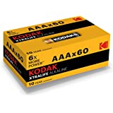 Kodak XTRALIFE AAA 60 Pack Alkaline Batteries, (30410985)