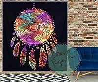 Corの夢キャッチャータペストリーQueenツインタペストリーヒッピーブラックandホワイトMandalaタイダイWall Hanging Gypsy壁装飾 Queen Tie-Dye ブラック
