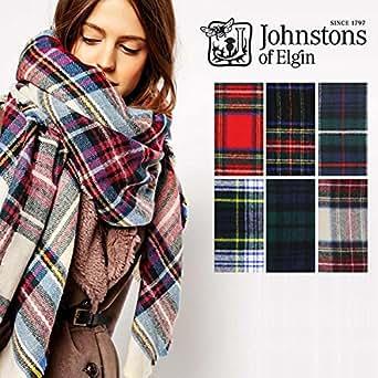 JOHNSTONS(ジョンストンズ) マフラー/ストール 大判 タータンチェック柄 カシミヤ100% レディース/メンズ190×70(全6色)【WA056】 (Hessian Dress Stewart / ヘシャンドレススチュワート) [並行輸入品]