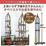 組立 かんたん ローズオベリスク 全4規格 高さ170cm、180cm、210cm (リング径25cm×高さ170cm)